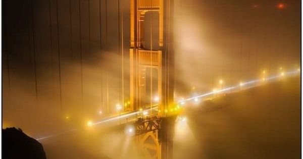 Golden Gate Bridge in Fog by Terence Chang architecture photography sanfrancisco