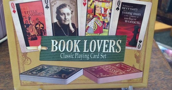 Book Lovers Classic Playing Card Set Bookends Bookmarks
