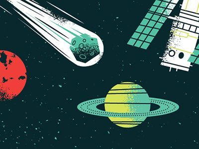 Outer Space Outer Space Illustration Graphic Illustration
