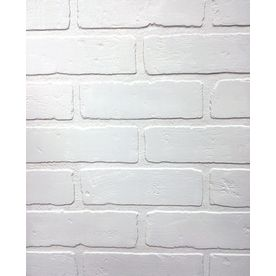 47 75 In X 7 98 Ft Embossed Paintable Brick Hardboard Wall Panel Lowes Com Brick Wall Paneling Faux Brick Panels Brick Paneling
