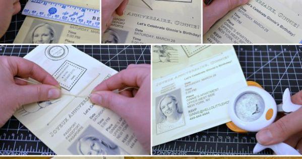 Diy Wedding Invitations Canada: Make A DIY Passport Invitation Using My Free Printable And