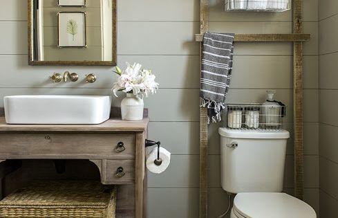 DIY Guest Bathroom before + after