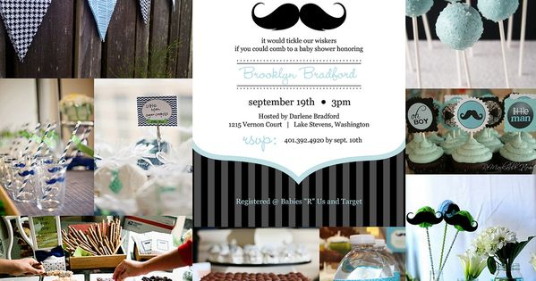 more mustache baby shower ideas