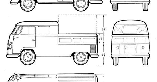 volkswagen transporter t2 blueprint
