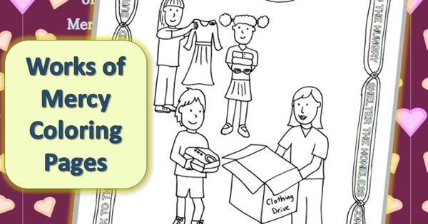 works of mercy coloring pages - photo#7