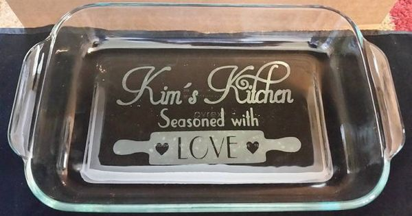 Personalized Etched 9x13 baking dish | Silhouette ...