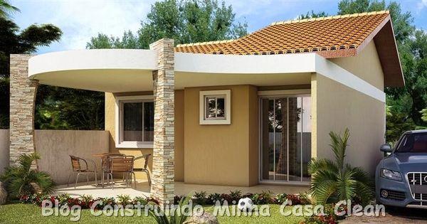 20 fachadas de casas pequenas e super modernas patios - Casas super pequenas ...