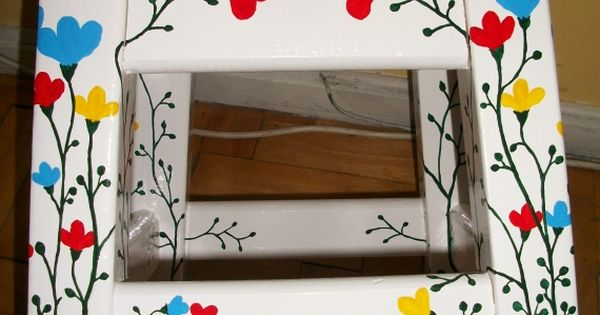Muebles pintados a mano bancos muebles artesanales for Muebles pintados a mano