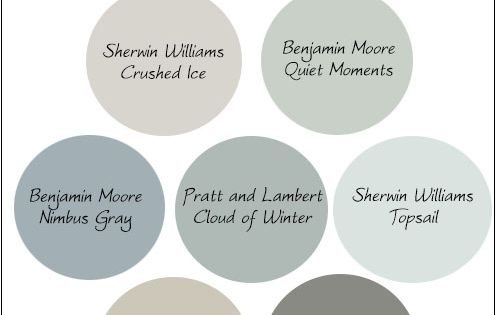 My favorite neutral paint colors for 2014! Sherwin Wiliams Crushed Ice, Benjamin