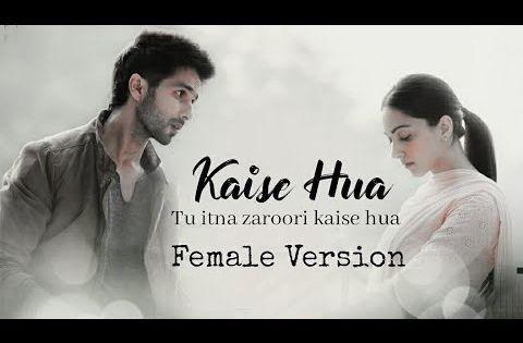 Kaise Hua Female Version Lyrics Kabir Singh Shahid K Kiara A Youtube Female Songs Romantic Songs Lyrics