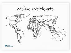Meine Weltkarte Weltkarte Zum Ausmalen Wo Man Schon War