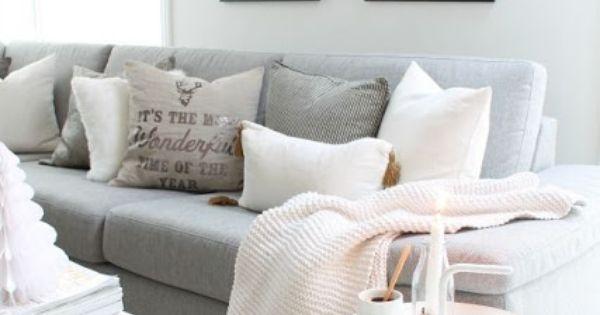 Obsesi n con un sof gris blanco y de madera living for Sofa gris y blanco