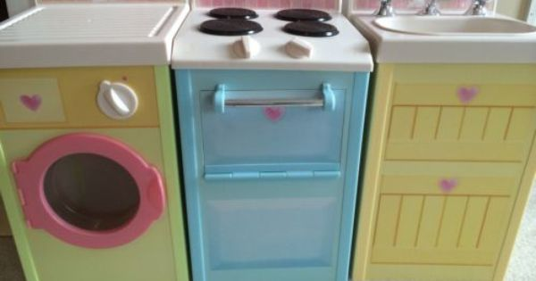 Rose petal cottage by playskool play sink stove and for Playskool kitchen set
