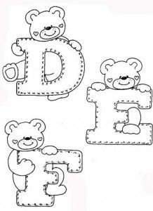Desenhos Alfabeto Ursinhos Enfeite Sala De Aula Infantil 1