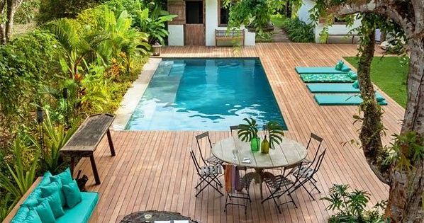 Swimming Pool Ideas For Small Backyards Beautiful Wood