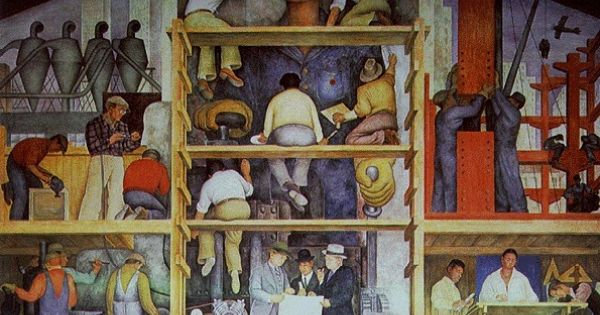Diego rivera mural at san francisco art institute the for Diego rivera mural san francisco