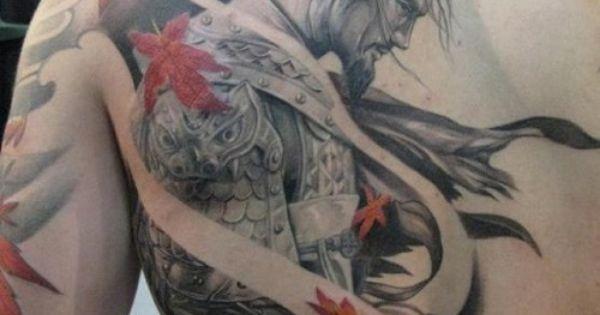 ronin warrior back tattoo tattoo pinterest nice pointillism tattoo and back tattoos. Black Bedroom Furniture Sets. Home Design Ideas
