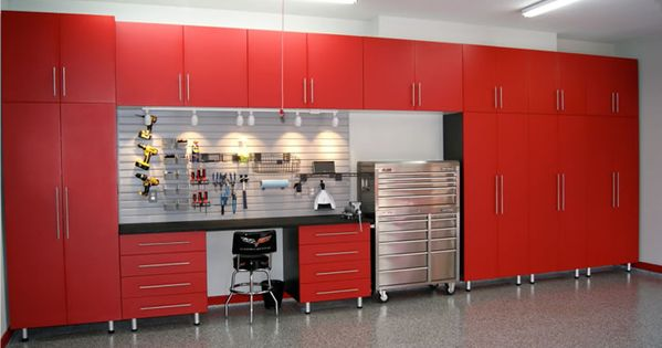 red ikea cabinets for garage garage pinterest garage storage cabinets garage shelving and. Black Bedroom Furniture Sets. Home Design Ideas