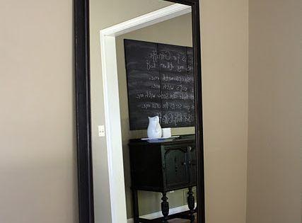 Diy Floor Mirror Using Builder Grade Bathroom Mirror Genius Stuff Ill Never Get Around To
