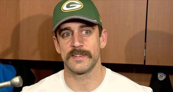 Aaron Rodgers Brought Back The Badass Mustache Total Packers Aaron Rodgers Aaron Aaron Rogers