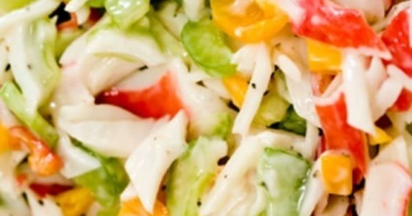 how to make cold crab salad