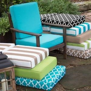 9111 Outdoor Cushions Recovered 27 X 27 X 5 Outdoor Seat Cushions Patio Cushions Outdoor Deep Seat Cushions