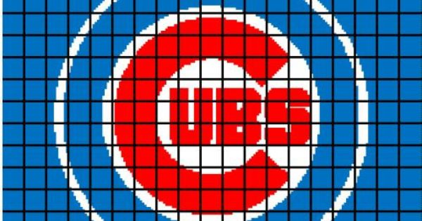 5 Pattern Chicago Cubs Crochet Baby Afghan Blanket By