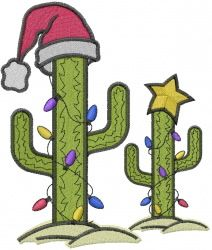 Christmas Cactus Clipart.Christmas Cactus Tree Embroidery Design Craft Ideas