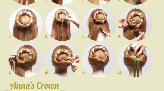 Anas Crown Instructions 0 Jpg 570 558 Frozen Hair Anna Frozen Hair Frozen Hairstyles