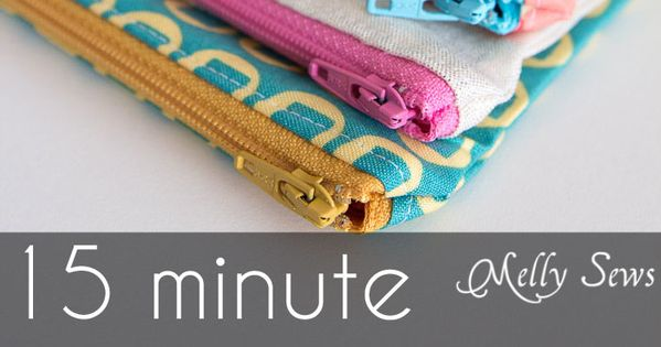 Written plus video tutorial shows you how to sew a zipper pouch