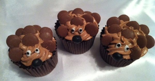 Cute Hedgehog Cupcakes Desserts Pinterest Hedgehogs