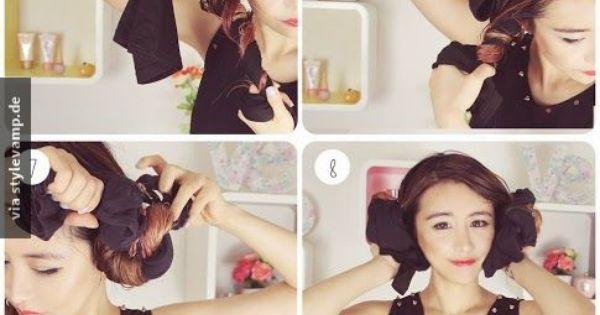 perfekte wellen ohne hitze chick pinterest wellen frisur und haar. Black Bedroom Furniture Sets. Home Design Ideas