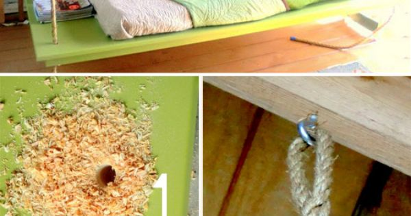 MoreDesignPlease - DIY: Hanging Outdoor Bed. I have ALWAYS wanted/still want a