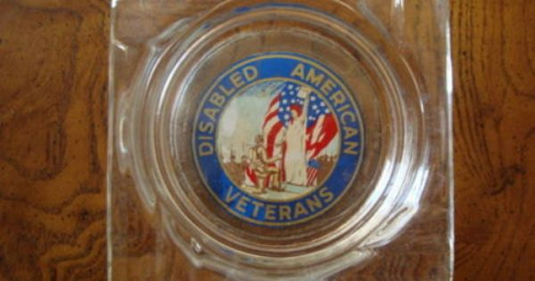 Vintage Disabled American Veterans Logo Ashtray Veteran Logo American Veterans Vintage