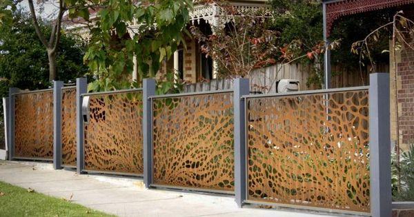 Brise vue jardin et d co en acier corten 30 id es for Idee cloture maison