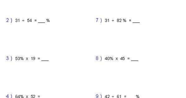 Percent Of Change Worksheets Math Aids Com Pinterest