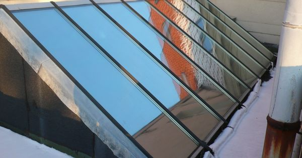 Een glazen dak koepel laat veel licht binnen maar tevens ook veel warmte door onze meest - Glazen dak dak glijdende ...