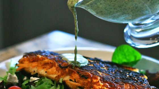 Sweet potato crusted fish with cilantro lime viniagrette seafood recipe drivedana statenisland