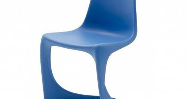 The 290 Steen Ostergaard Designed Injection Molded Chair In Blue
