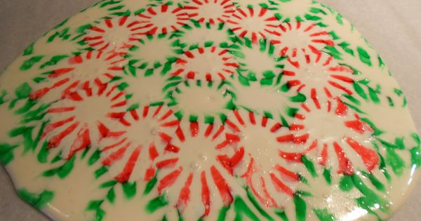 Christmas Serving Tray. Take Starlight mints. Place on parchment paper on a