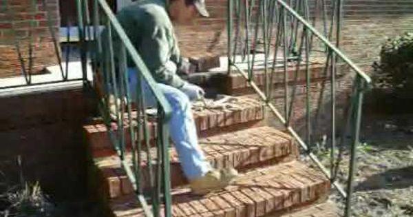 How To Repair Brick Steps With Loose Broken Or Missing Bricks Youtube Brick Steps Brick Sidewalk Brick Porch