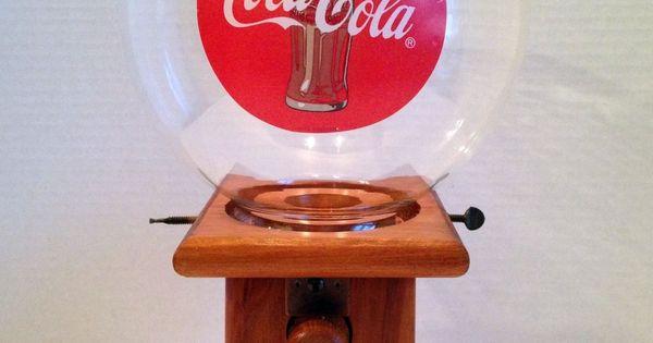 Rc Cola And Peanuts: Vintage Coca Cola Peanut Gum Ball Wooden Dispenser Vending