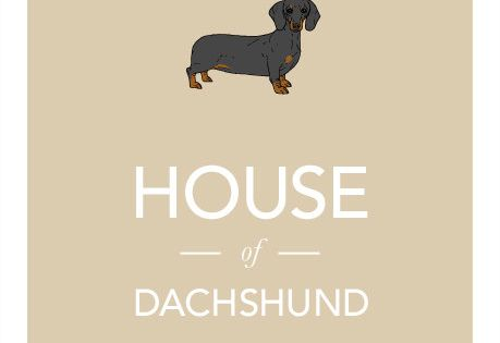 Dachshund print illustration typographic sausage by jamesweaver, Kelly Emme It's audrey!