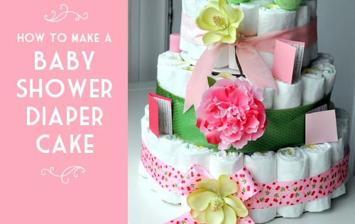 Baby Shower Ideas | Baby Shower Diaper Cake {How-To Tutorial} | Living