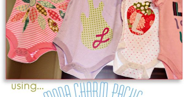 DIY Onesie Party with Moda Charm Packs. Free Printable Ideas, Templates and