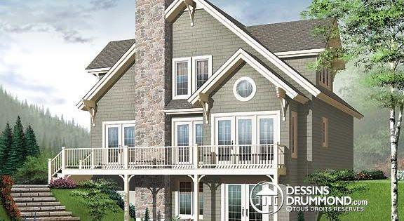 Plan de Maison unifamiliale W2957-V1, dessinsdrummond ...