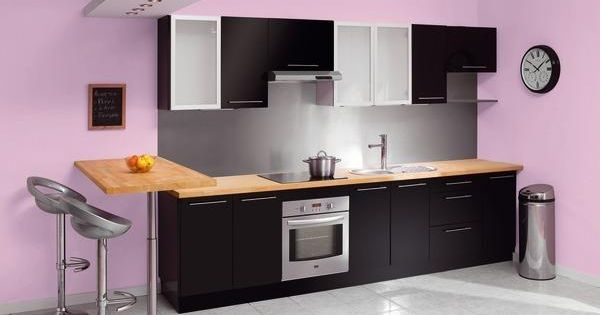 exemple cuisine noir laque brico depot kitchens and. Black Bedroom Furniture Sets. Home Design Ideas