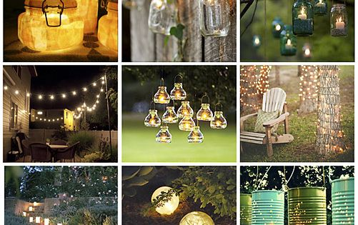 17 Gorgeous Outdoor Lighting Ideas for the garden.