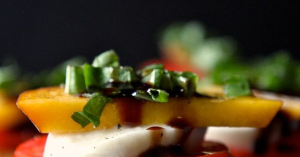 peach tomato & mozzarella crostini (and other peach recipes).