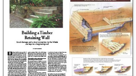 Building A Timber Retaining Wall Fine Homebuilding Retaining Wall Building A Retaining Wall Timber Walls